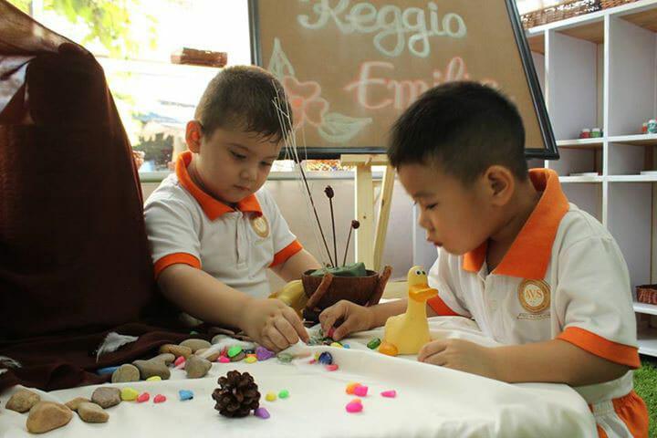 Trẻ áp dụng phương pháp Reggio Emilia
